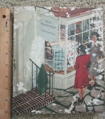 1942 Wallpaper Sample Catalog Montgomery Ward Swatch Wall paper Book Style