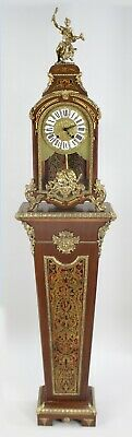 French Boulle Style Bracket Clock on Pedestal