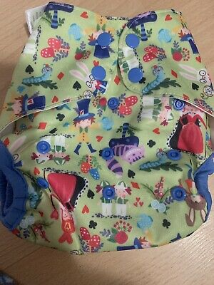 EUC Blueberry Capri Cloth Diaper Cover Queen Of Hearts