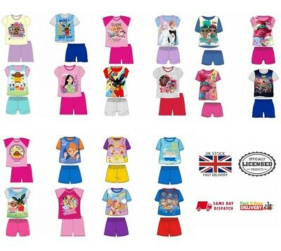 Boys Girls Baby Kids Shortie Short Pyjamas Pajamas T-Shirt Summer 1-10 Yrs