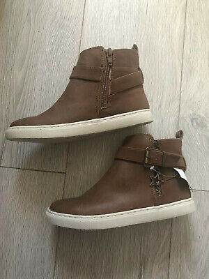 Girls Next Tan Ankle Boots Size 2 BNWT Pull On Boots / Shoes