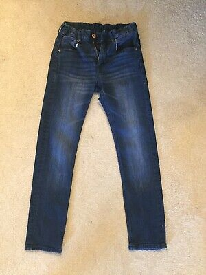 H&M Boys Skinny Fit Dark Denim Jeans Age 10-11