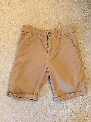 Next Boys Beige Knee Length Smart Chino Short Age 11