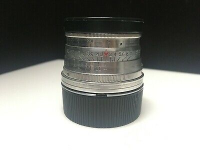 JUPITER-8 / F2 50mm Silver Lens Leica LTM M39 with M Mount adapter ring.