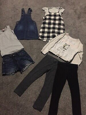 Girls Next Clothes Bundle Dress, Leggings, Shorts And Jumper Age 6 Years