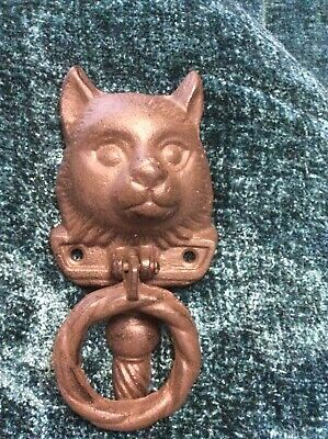 Cast Iron Cat's Head Door Knocker 6 Inches by 2 Inches