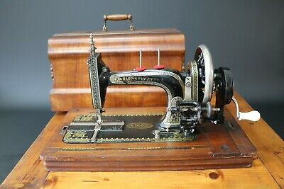 Harris Family No 2 Sewing Machine Manual Hand Crank + Case Excellent Vintage
