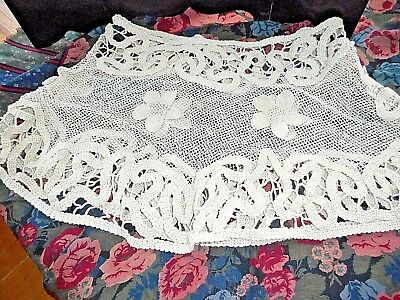 Antique heavy linen lace skirt-like cloth