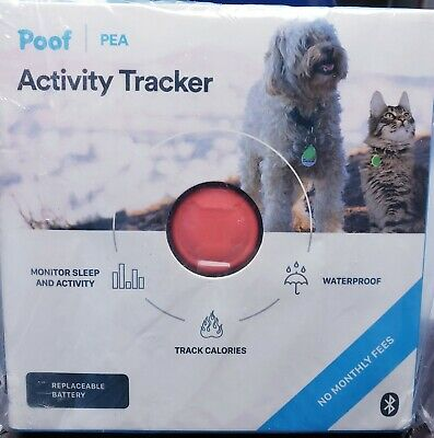 Poof Pea Pet Calorie and Activity Tracker Coral 7 grams
