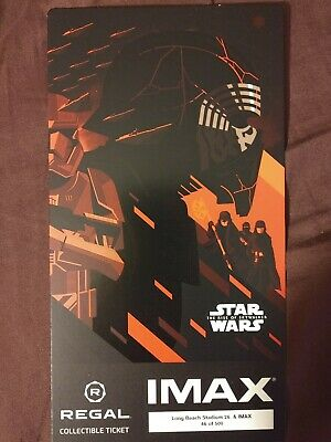 Star Wars Rise Of Skywalker Regal IMAX Collectable Ticket Kylo Ren week 3