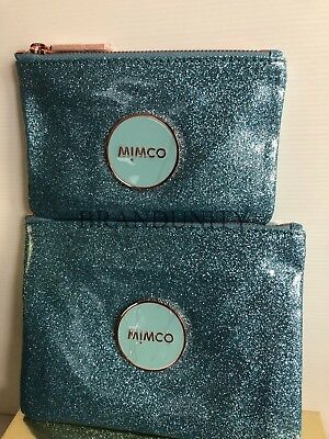 Mimco 2 MIM Pouch Brand New Medium & Small Pouch Shimmer Seafoam