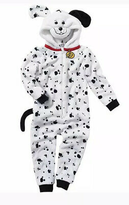 Girls Dalmatian All In One Sleepsuit Pyjamas New Age 11-12 Years
