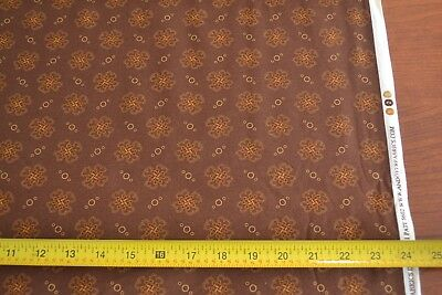 Tan Gold on Blue Quilting By 1//2 Yd Andover//Indigo Berries//Morton//4889 B M8637