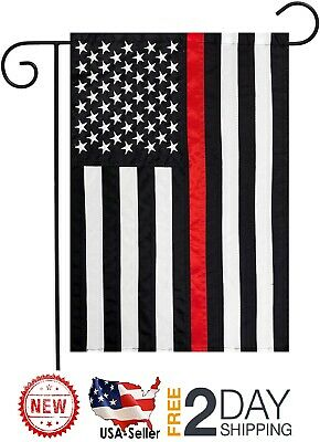 """12x18 12/""""x18/"""" USA Police Thin Blue /& Fire Thin Red Line Poly Flag Boat Garden11"""