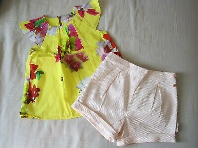 Ted Baker Girls Outfit Top And Shorts, Age: 3-4yrs