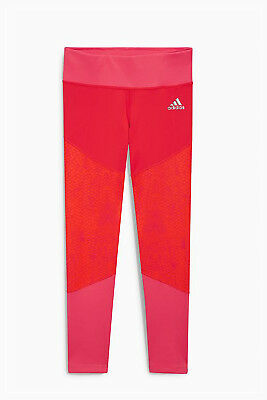 Girls Adidas Pink Leggings, Size: 9-10yrs - New