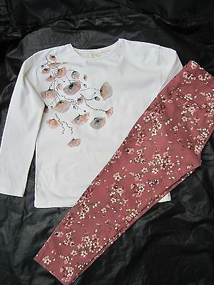 ZARA Girls Top + Trousers, Age 8
