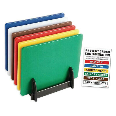 PROFESSIONAL CATERING FOOD CUTTING CHOPPING BOARDS COLOUR CODED 450mm x 300mm