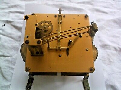 English  4 Hammer 4X4 Mechanism   From An Old  Mantle Clock Working Ref E 9