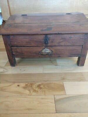 Old wooden antique chest very good condition