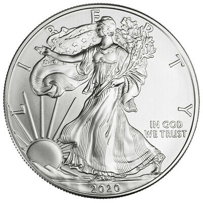 2020 - 1 oz American Silver Eagle Coin Brilliant Uncirculated