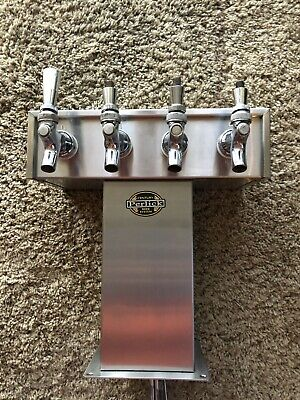 Perlick Century 4 Faucet Tee Tower Glycol Cooled Stainless Steel Beer System