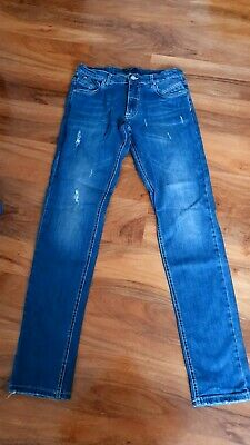 Boys 'Aston Martin' blue jeans. Aged 16 yrs. Very good condition