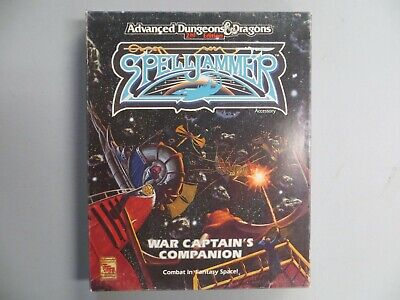 War Captain's Companion Spelljammer Boxed 2nd ed D&D dungeons dragons TSR 1992