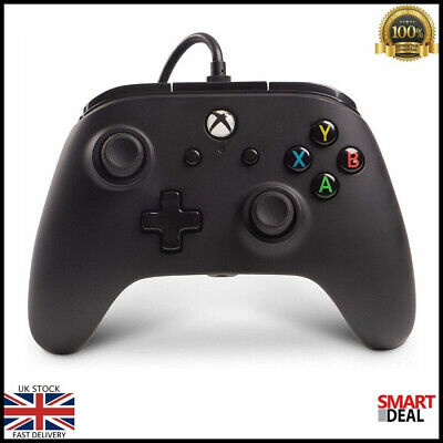 Wired Xbox One Controller Black Xbox One S Xbox One X Windows 10 Gaming Game NEW