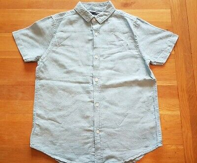 Boys light blue smart shortsleeve button shirt from next age 9 years top