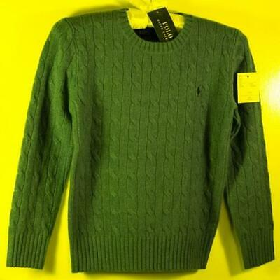 Ralph Lauren POLO Blue cable-knit boy's sweater size 8 yrs BNWT Cotton/Cashmere