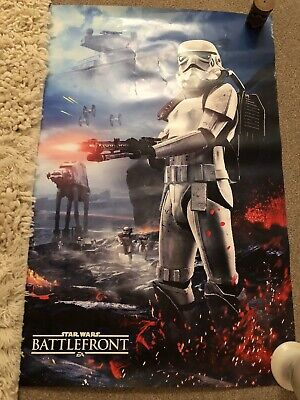 """Star Wars Battlefront Video Game Poster - 2015 - 24"""" x 36"""" DOUBLE SIDED"""