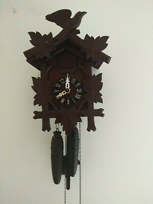 Genuine 1950's Vintage Black Forest Cuckoo Clock. Forestall. Made in Germany.