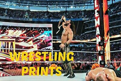Signed WWE SETH ROLLINS 2 Wrestling Photo A4 A3 A2 A1 Autographed