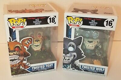 Lot of 2 Five Nights at Freddy's The Twisted Ones - Twisted Wolf & Twisted Foxy