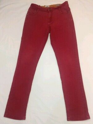 Children's Boys Dark Red Jeans Trouser  Age 13-14 M&S Indigo