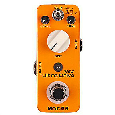 Mooer Ultra Drive MKII 3 mode Distortion Guitar Effects Pedal
