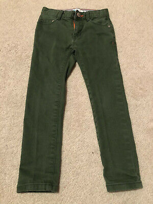 Boys Boden Skinny Green Jeans Age 4