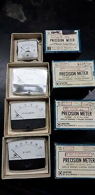 Vintage Calectro GC Electronics AC/DC voltage current meters.NOS