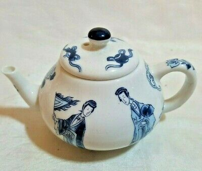 Vintage Franklin Mint Victoria and Albert Museum Kangxi Miniature Teapot VGC