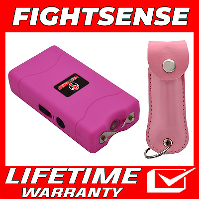 Cheetah Mini Stun Gun and Pepper Spray for Self Defense -Extremely Powerful Pink