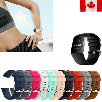 Watch Band Silicone Diamond Bracelet Wrist Strap Replacement For Fitbit Charge 3