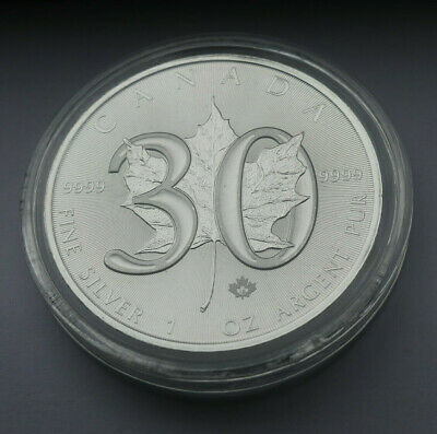 1988-2018 $5 Canada 30th Anniversary of the Silver Maple Leaf RCM 1 oz Coin