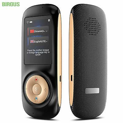 "New Birgus Smart Voice Translator Device 2.4"" HD Touch Screen 70 Language Travel"