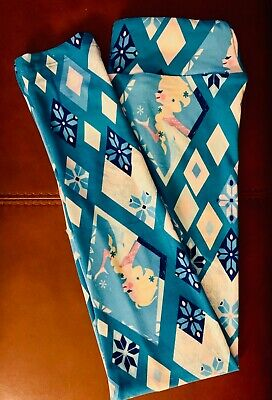 NWT LuLaRoe Disney Tween FROZEN Princess ELSA Turquoise PORTRAIT Legging UNICORN