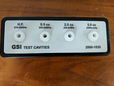 GSI Grayson Stadler Test Cavities 2000-1035 for Tympanometer Audiometer