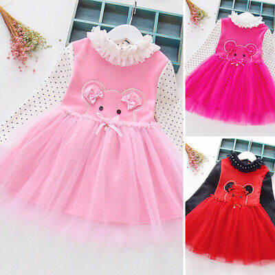 Baby Dress Toddler Princess Party Dress Winter Plus Size Kids Embroidery