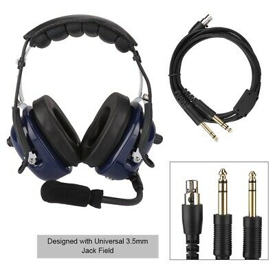 """GENERAL AVIATION DUAL TWIN PLUG HEADSET TO SPORTYS RADIO ADAPTER CABLE 1//4/"""" 1//5/"""""""