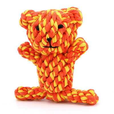 Pet Dog Tough Strong Chew Knot Toy Pet Puppy Healthy Teeth Bear Cotton Rope CF7X