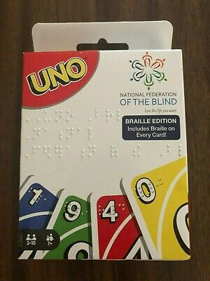 Uno Braille Card Game - National Federation of the Blind Edition - Brand New